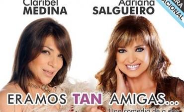 Claribel Medina y Adriana Salgueiro en el Teatro