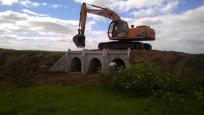 Gral Alvear: Se hizo de nuevo el puente Minucci