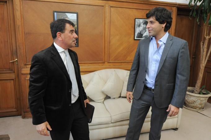 Azul: Bertellys se reunió con el Secretario de Interior