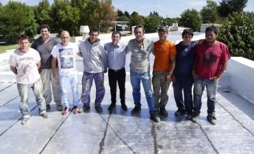Finalizó el arreglo de los techos en el Hospital de Chillar