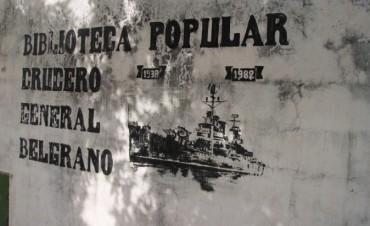 Bregan por la manutención de la Biblioteca Crucero Gral. Belgrano