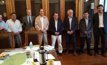 Galli en reunión con intendentes