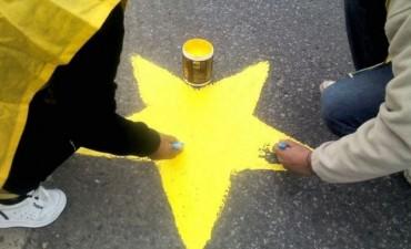 Estrellas Amarillas: este año irán reemplazando las pintadas en el pavimento por carteles