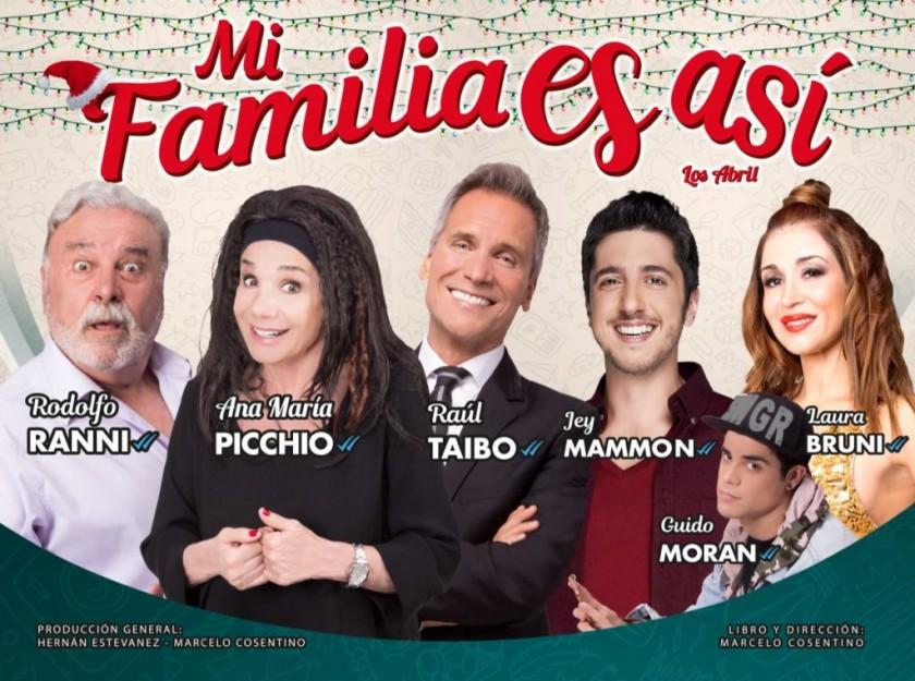 """""""Mi familia es así"""" se presentará en el Teatro Municipal"""