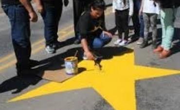 Pintan una Estrella fuera de los límites de nuestro Partido