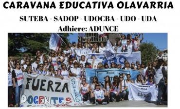 Los gremios docentes de Olavarría realizarán una Caravana Docente