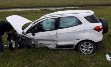 Dos Olavarrienses se accidentaron en la Ruta 3