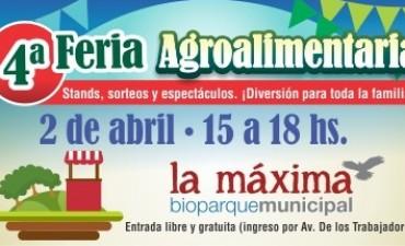 """4ª Feria Agroalimentaria: 2 de abril en Bioparque """"La Máxima"""""""