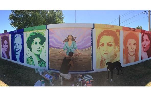 Día Internacional de la Mujer: se presenta el primer mural interactivo