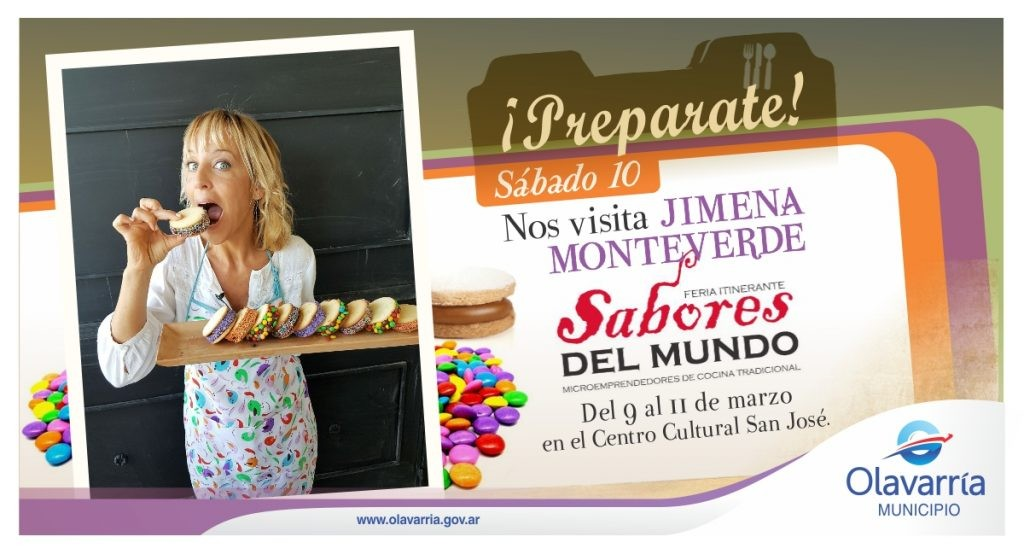 Jimena Monteverde cocina este sábado en Olavarría