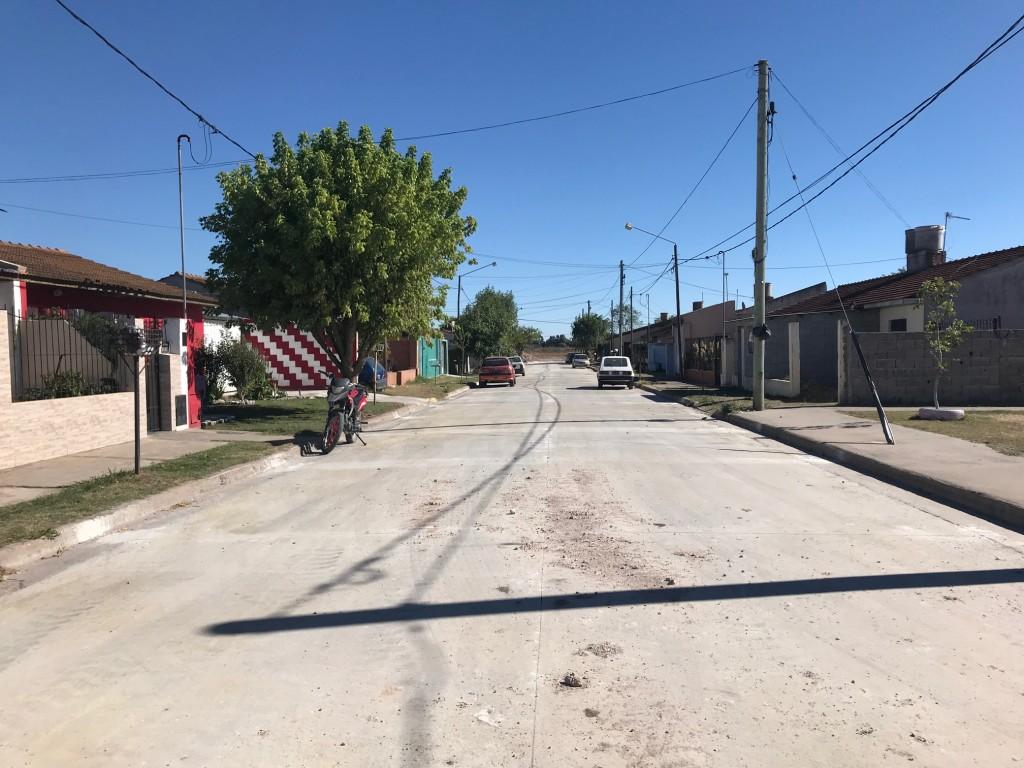 Pavimentación en el Barrio Sto. Cabral