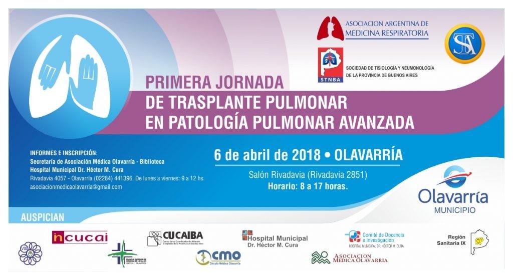 Profesionales de prestigio disertarán en las Jornadas de Trasplante Pulmonar