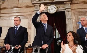 El Presidente Macri dejó abierto el Período de Sesiones en el Congreso