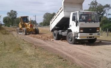 En el barrio Cuarteles avanza el mantenimiento de calles