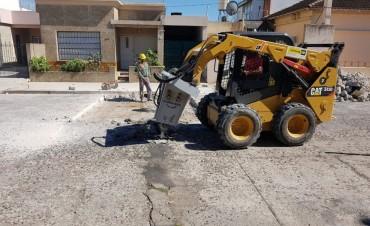 Trabajos de repavimentación en Pelegrino y Muñoz