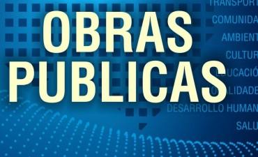 Trabajos en la rotonda de Trabajadores y Rivadavia