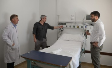 Ezequiel Galli recorrió la Unidad de Terapia Intensiva del Hospital