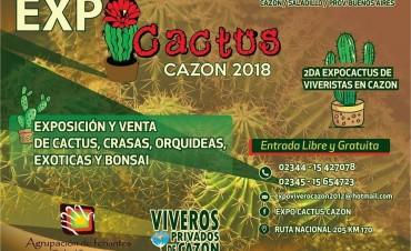 Este fin de semana se realiza la segunda Expo Cactus Cazón