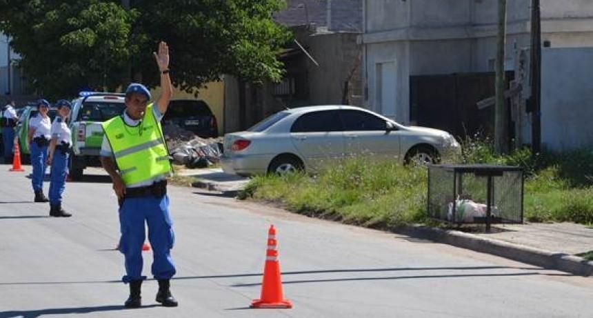 Operativos de tránsito en Sierra Chica