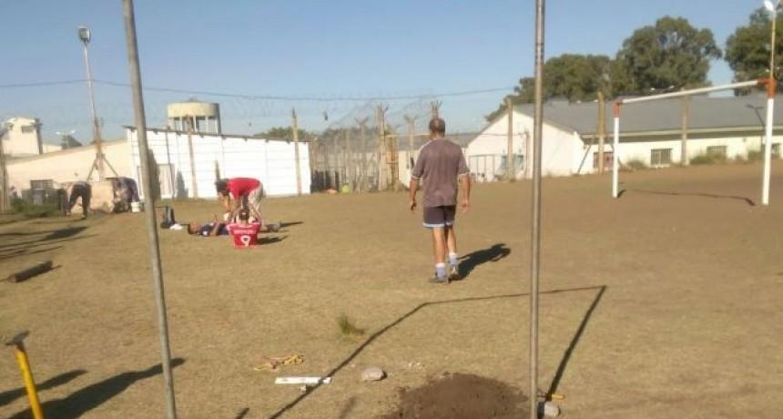 Reacondicionamiento en el sector deportes de la Unidad 38