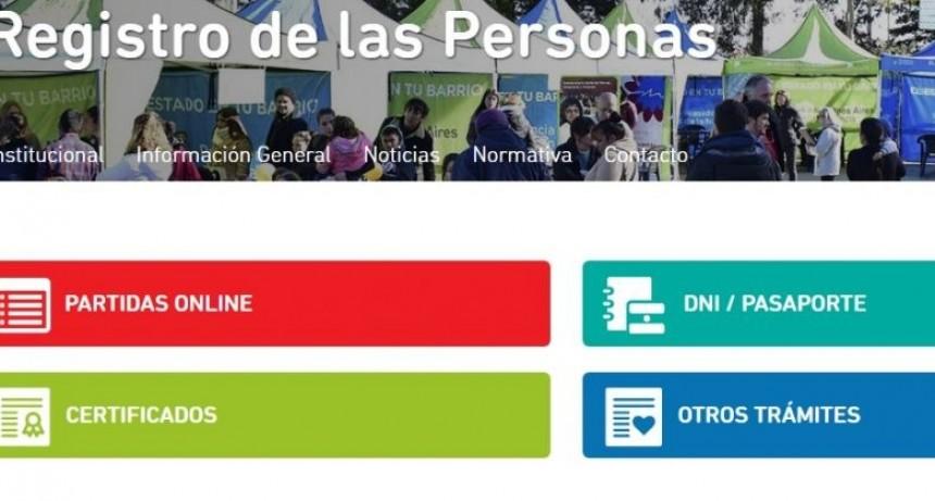 Partidas Online del Registro Provincial de las Personas