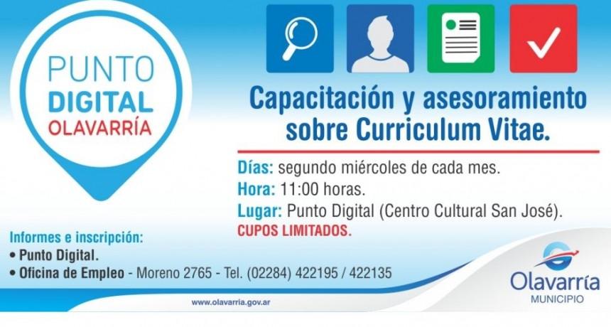 Capacitación y asesoramiento sobre Curriculum Vitae