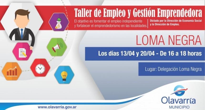 Taller de empleo y gestión emprendedora en Loma Negra