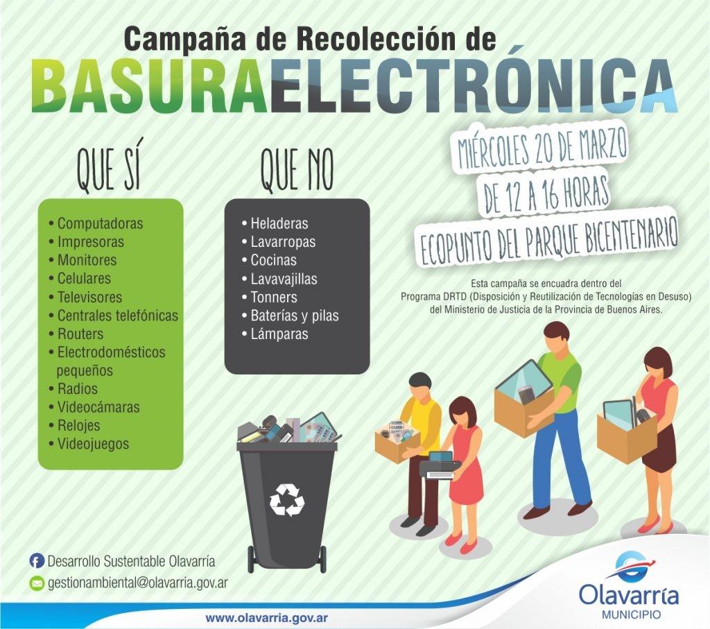 Recolección de basura electrónica y la apuesta al cambio cultural