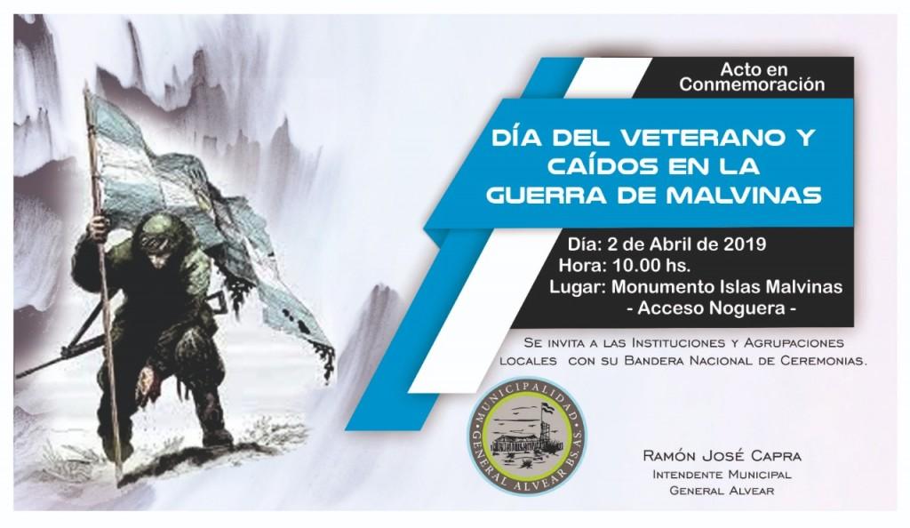 Alvear: Acto por el Día del Veterano y Caídos en la guerra de Malvinas