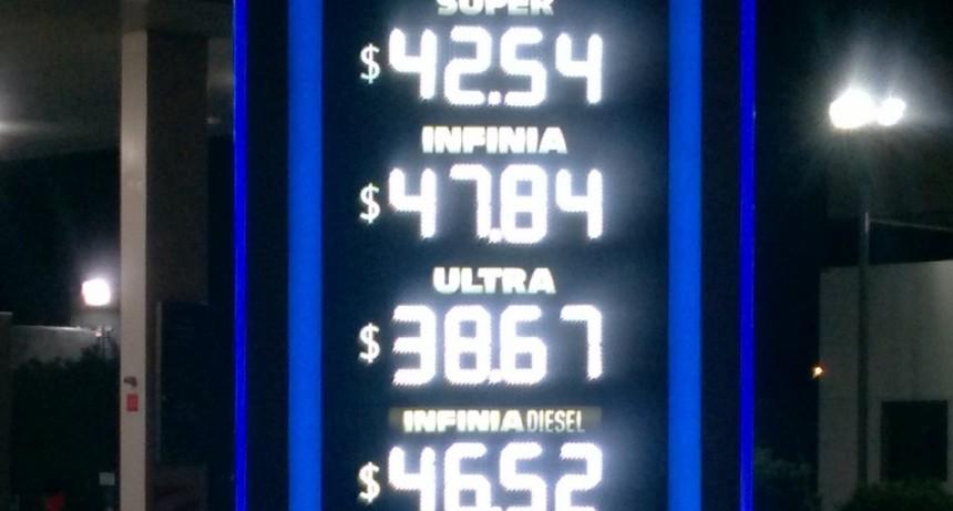 Nuevo precio de combustibles