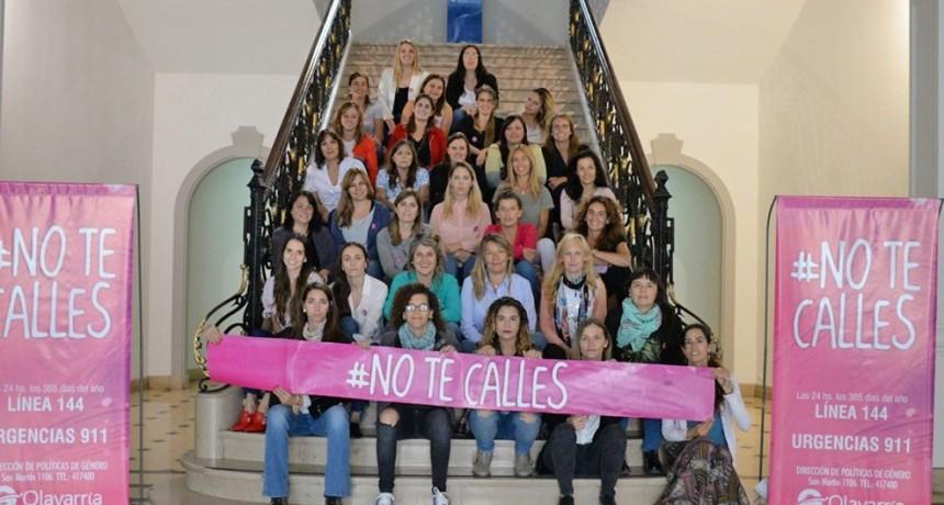 Empleadas municipales se sumaron a la campaña #NoTeCalles