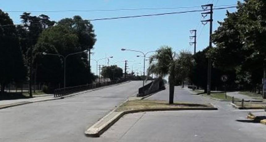 Corte de tránsito en el puente Lucio Florinda
