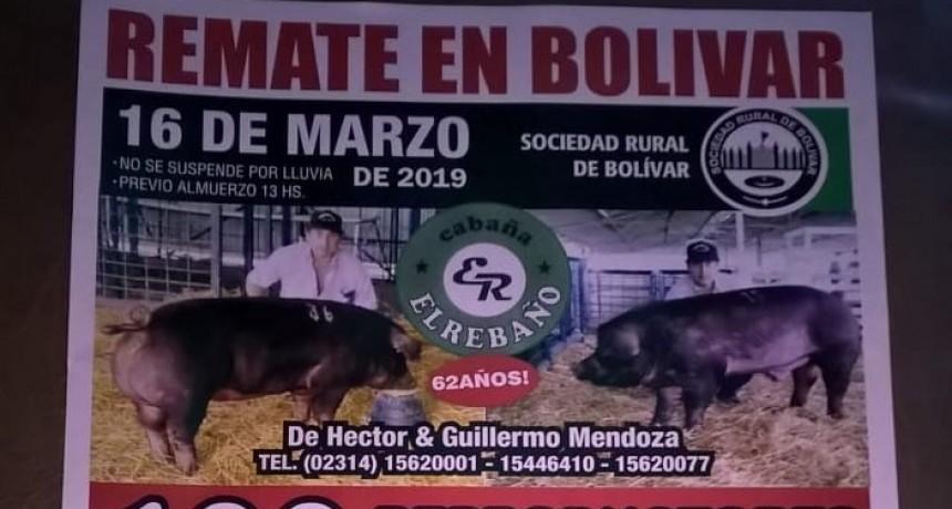 Remate Cabaña El Rebaño  el próximo sábado en Bolivar