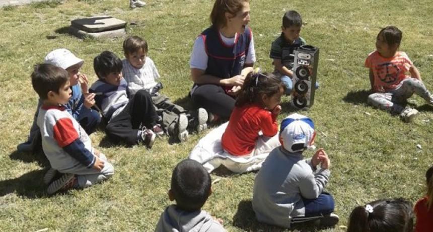 Los chicos de los Centros de Día en La Isla