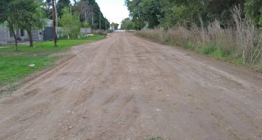 Mantenimiento de calles en los barrios Matadero y Villa Aurora