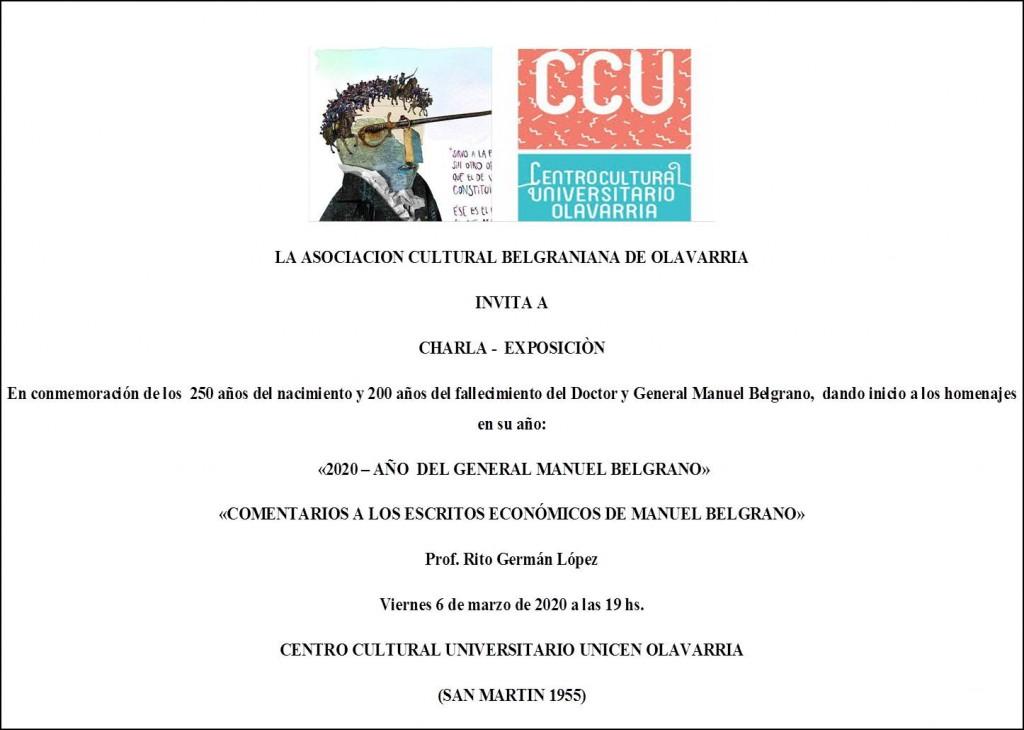Charla-Exposición  sobre Manuel Belgrano