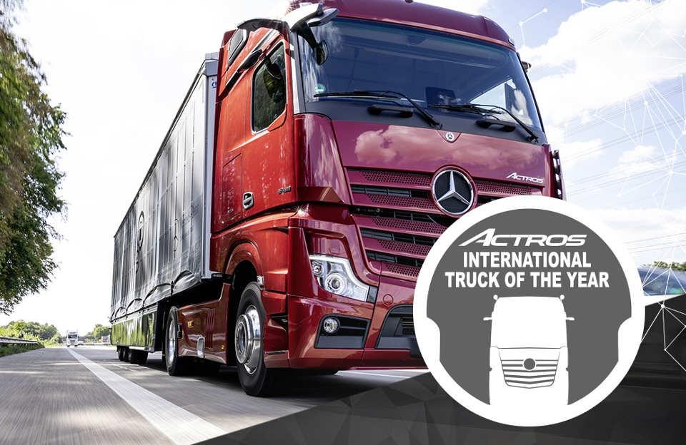 Mercedes Benz Actros elegido como camión del año en Europa