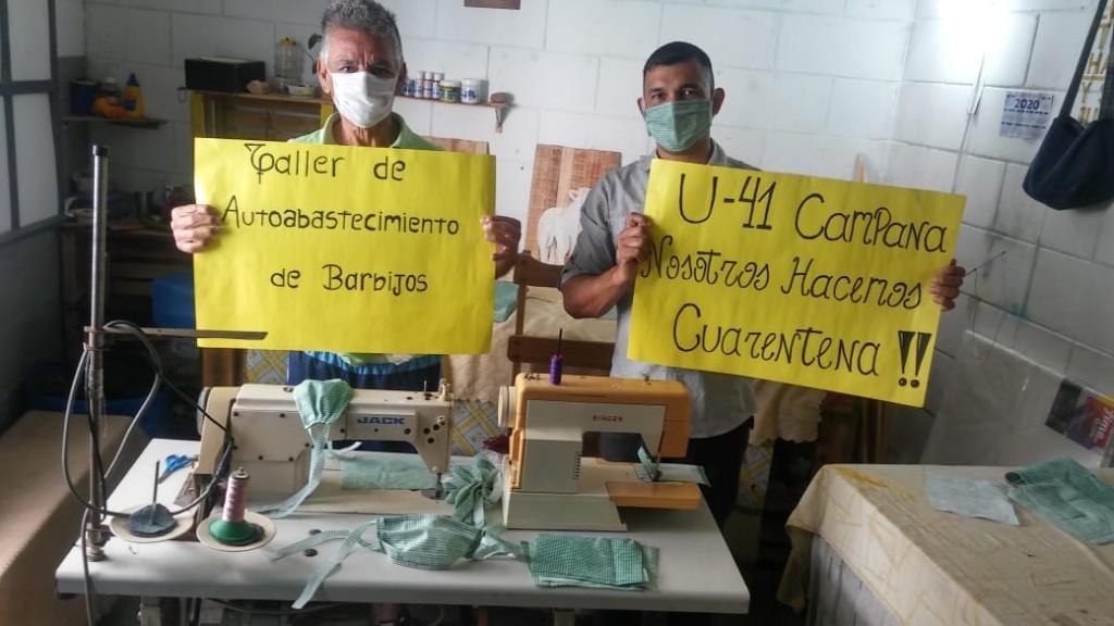 En las cárceles de Sierra Chica fabrican barbijos
