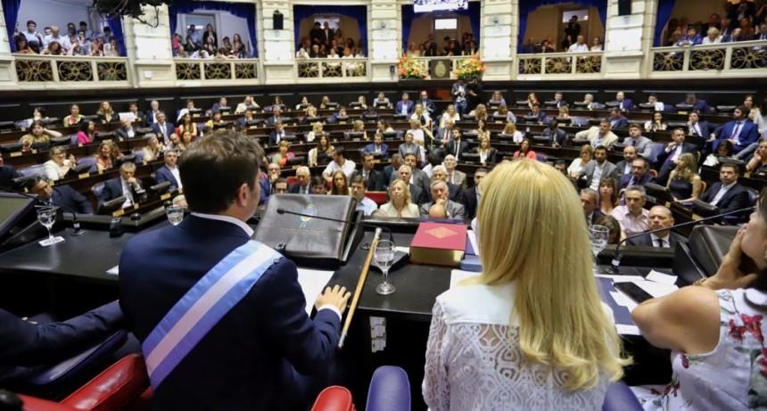 El gobernador inaugura el período de sesiones ordinarias