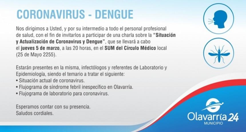 Charla sobre Situación y Actualización de Coronavirus y Dengue
