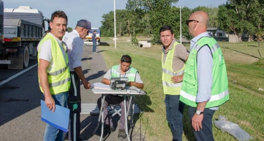 Primeros controles de carga coordinados por las Subsecretarías de Minería y Transporte de la provincia