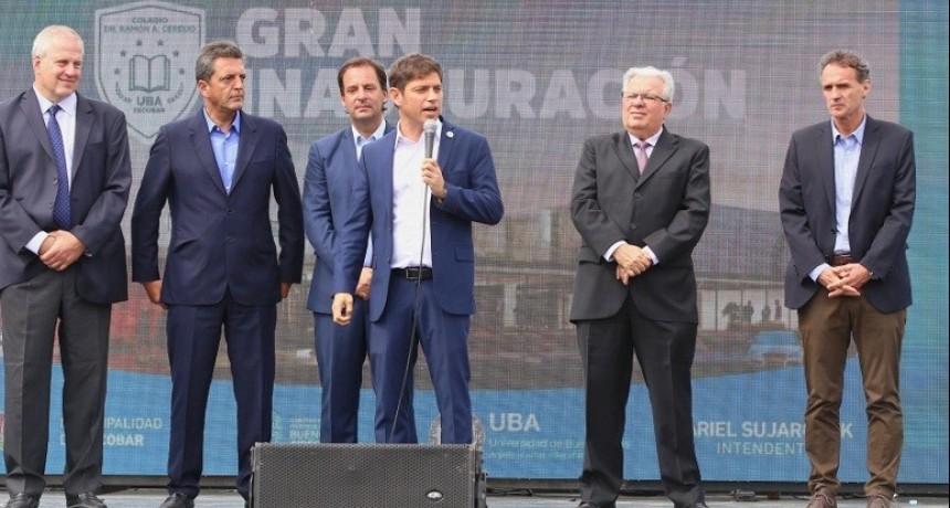 El gobernador Kicillof inauguró el ciclo lectivo en las secundarias bonaerenses