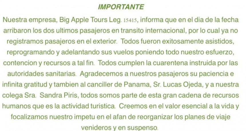 Big Apple ya sin pasajeros en tránsito internacional