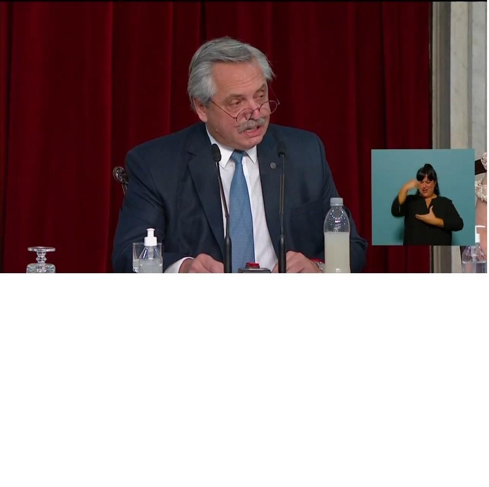 Con el discurso del Presidente quedó habilitado el período de sesiones ordinarias en el Congreso de la Nación