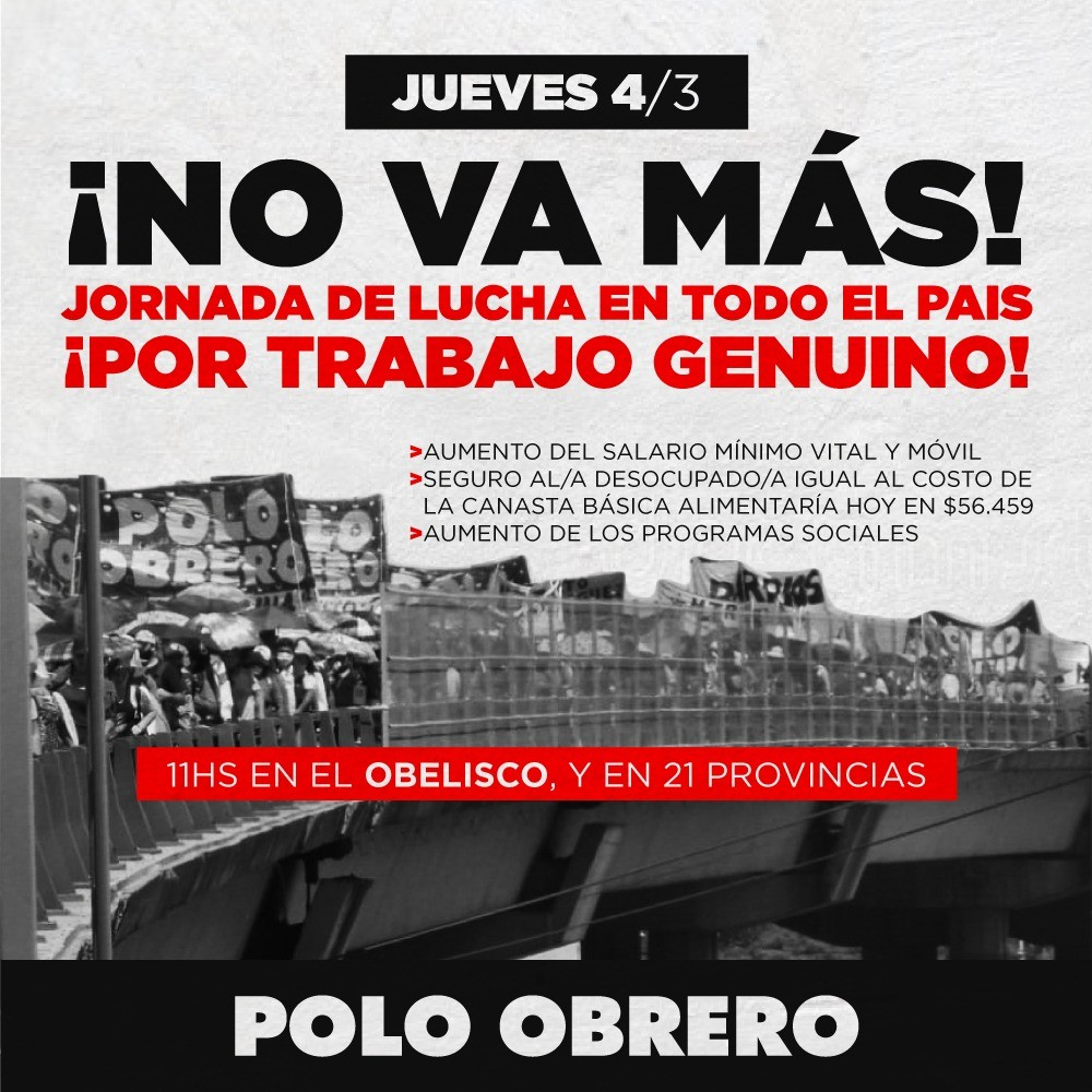 Comedores Populares: El Polo Obrero reclama reunión con Robbiani