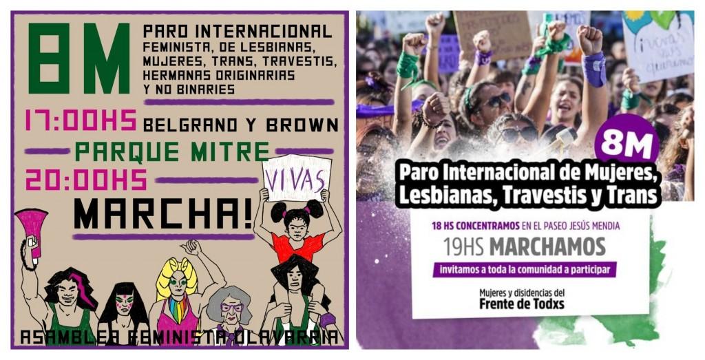 En Olavarría, dos manifestaciones por el Día de la Mujer y paro