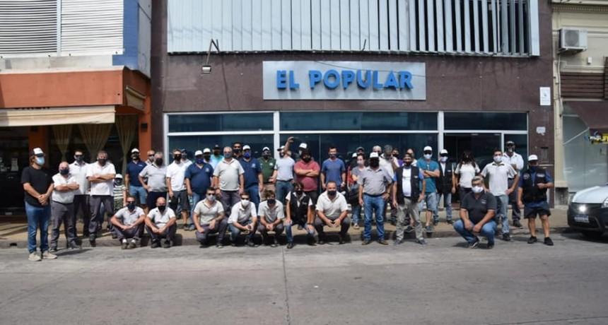 Protesta del SATSAID contra El Popular y Telecom