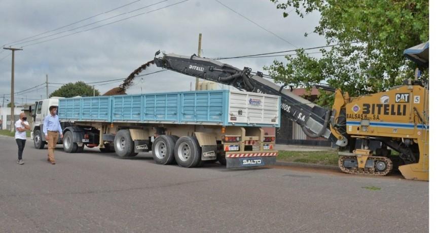 En marcha la obra de repavimentación de la avenida Ituzaingó