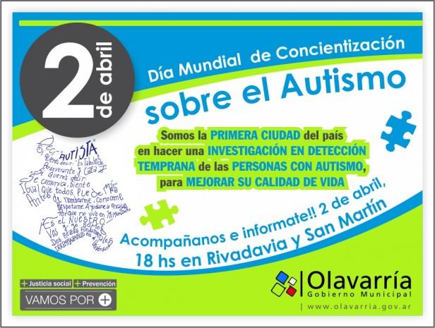 """""""Hablemos de Autismo"""": jornada  en Olavarría"""
