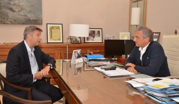 Eseverri recibió al Diputado Provincial Mauricio D´Alesandro